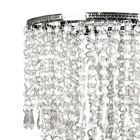 Faux Crystal Triple Layer Dangling Pendant
