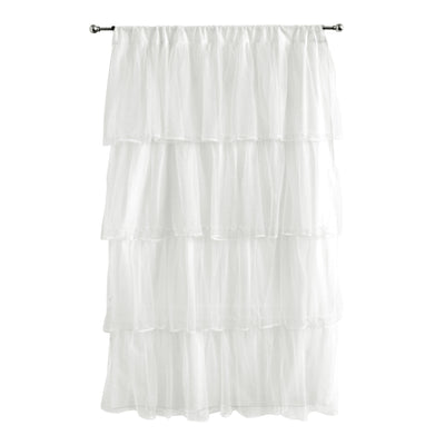 Layered Tulle Curtain Panel