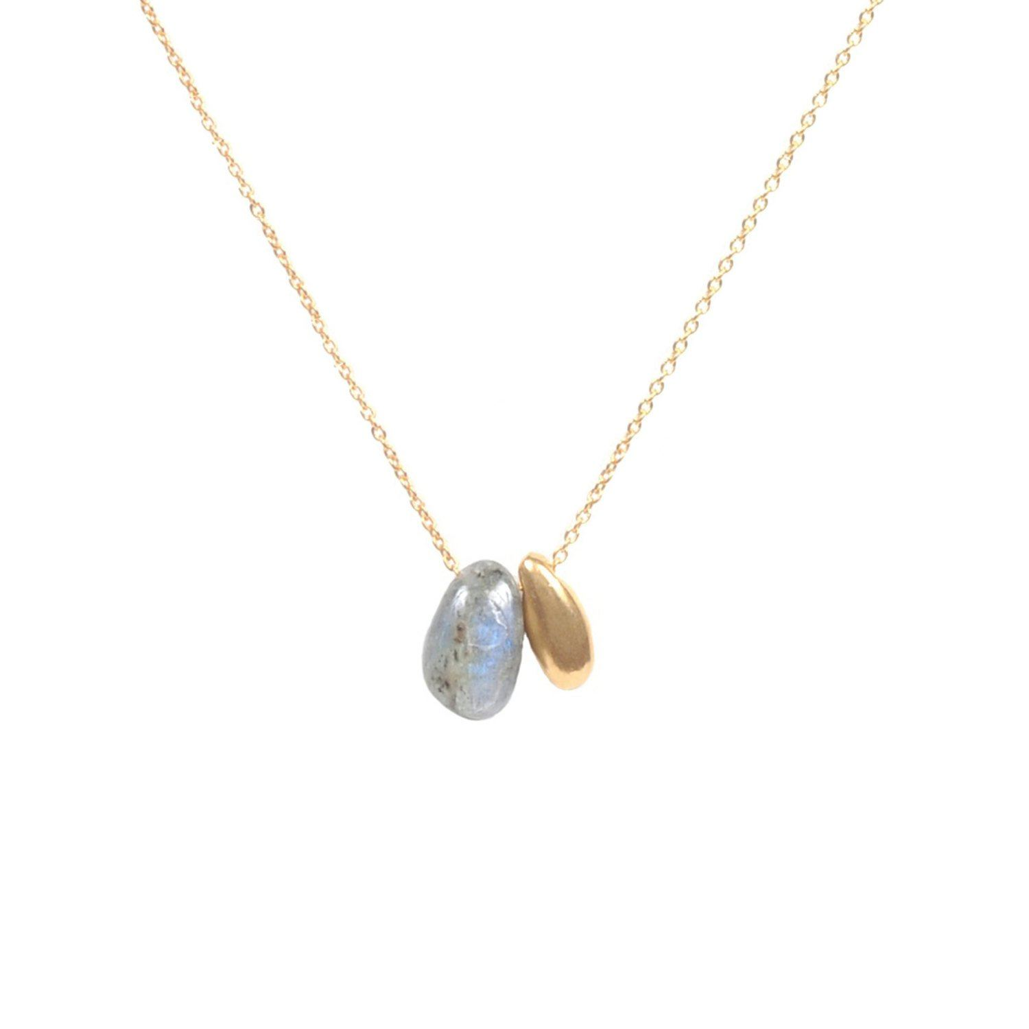 Skylar Necklace - Labradorite