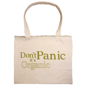 """Don't Panic It's Organic"" Canvas Tote Bag - Tadpoles"