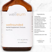 Load image into Gallery viewer, Ingredients - wellrounded Herbal Supplement Tincture