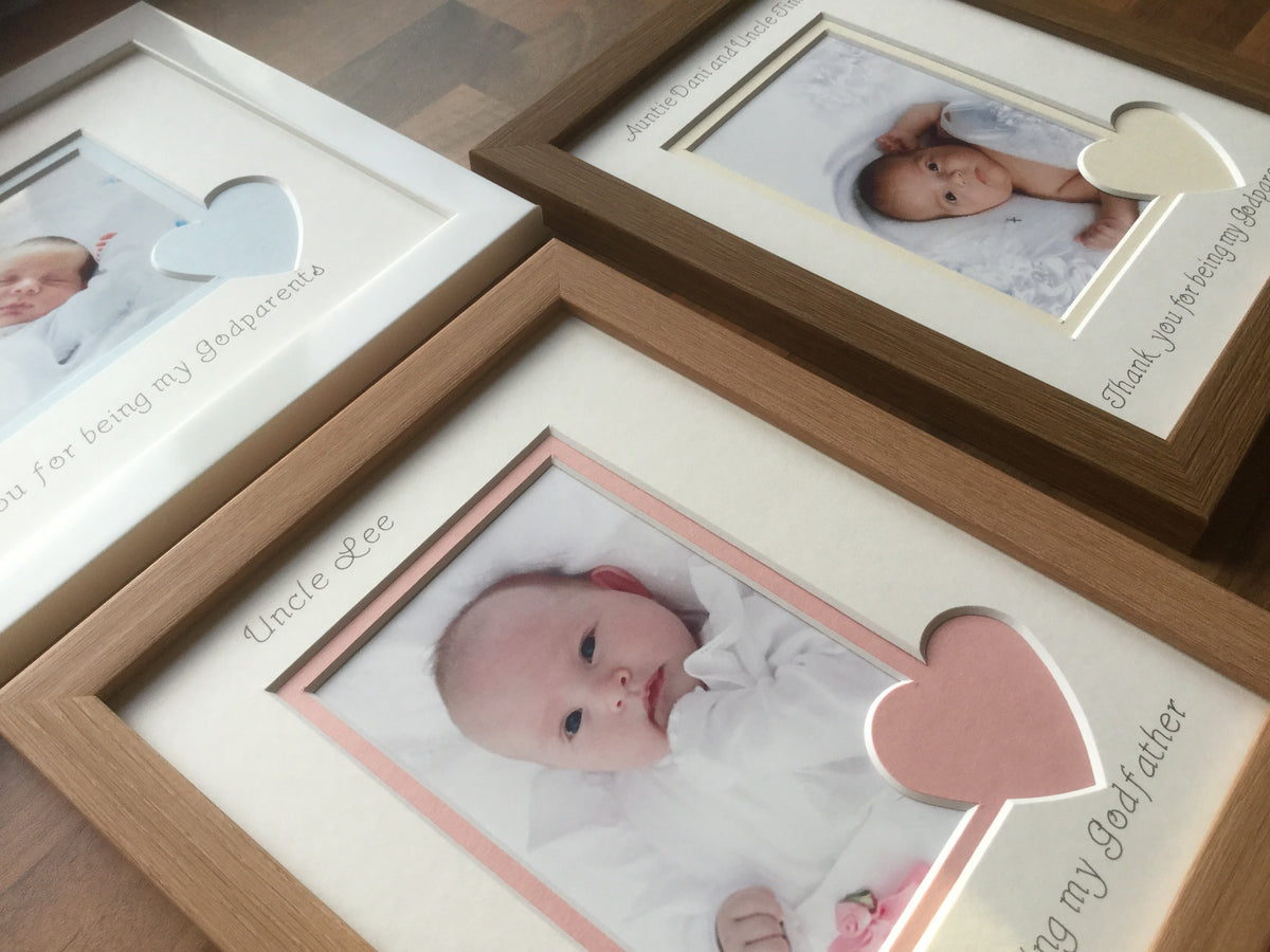 Christening Photo Frames, Personalised Baptised Photo Frames