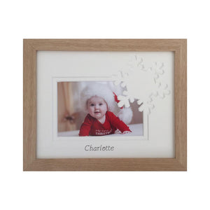 Personalised Name Christmas Snowflake Frame