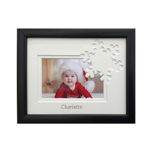 1st Christmas Snowflake frame - name only