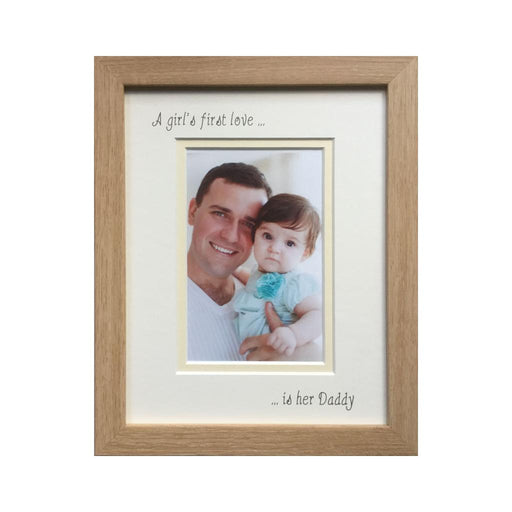 Girl 1st love is her Daddy Picture frame