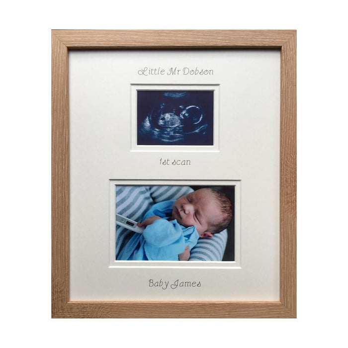 Little Mr Surname 1st scan Picture frame