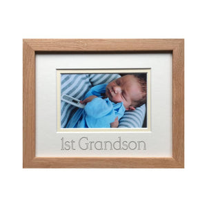 First Grandson Photo Frame Beech 9 x 7