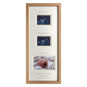 2 Scans photo frame 20 x 8 Beech - Cream Border