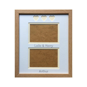 Heart-shaped Personalised Occasion Photo Frame