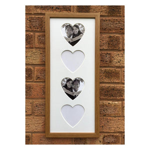 4 Hearts Oak Frame 20 x 8
