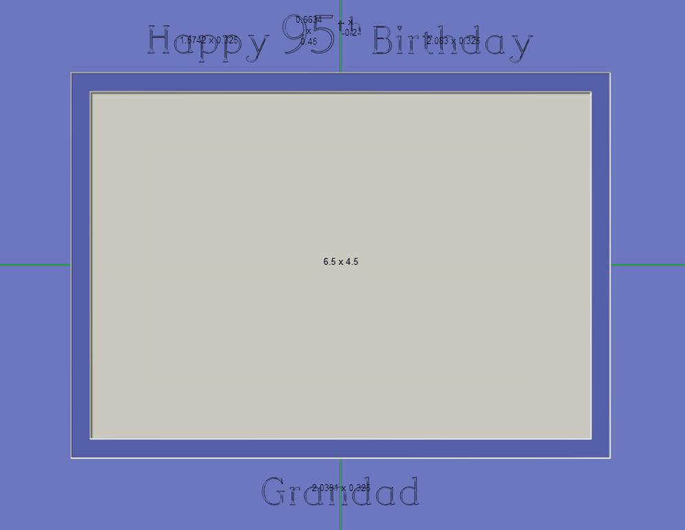 Happy 95th birthday picture frame 9 X 7