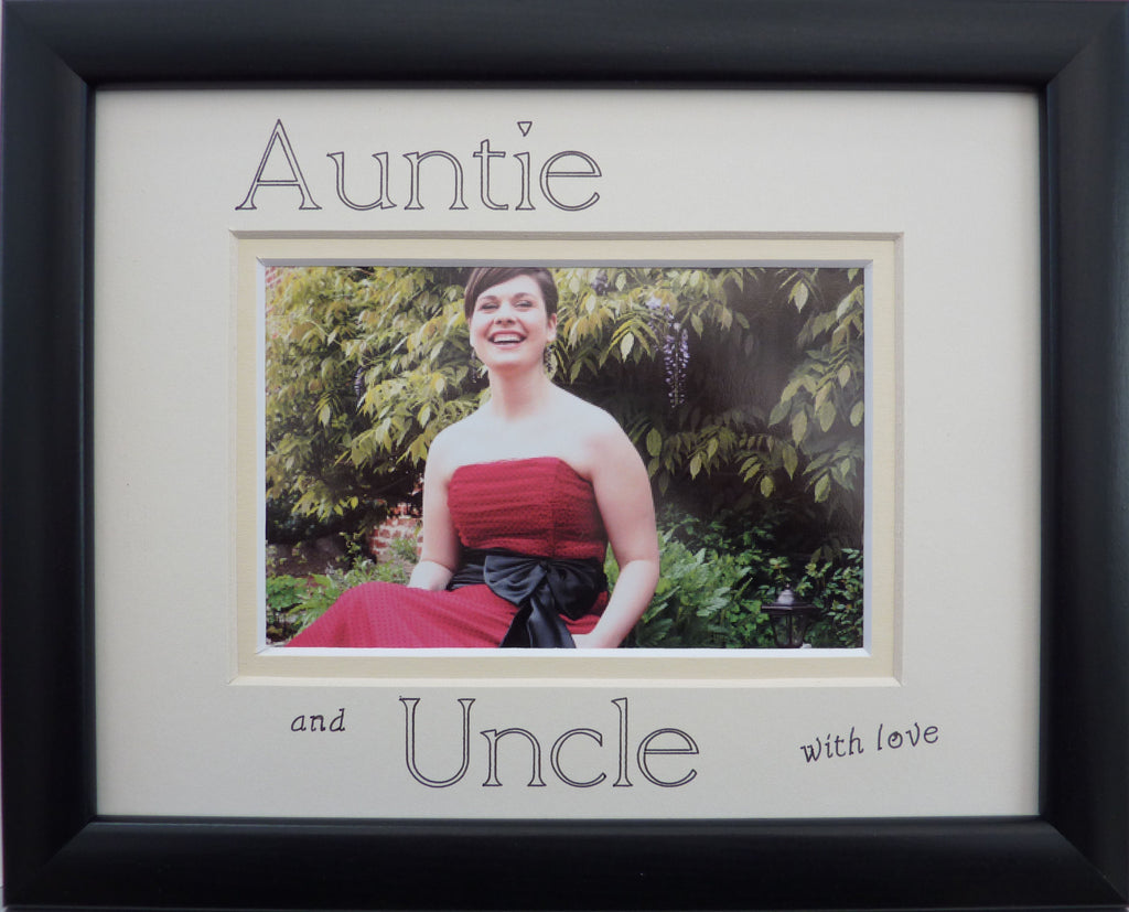 Auntie and Uncle with love photo frame 9 x 7 landscape