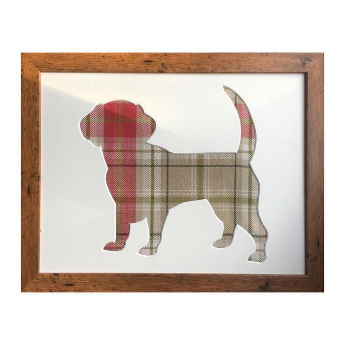Beagle Dog Tartan Picture Frame - Berridale Red
