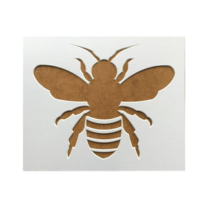 Bee Silhouette Picture Mount