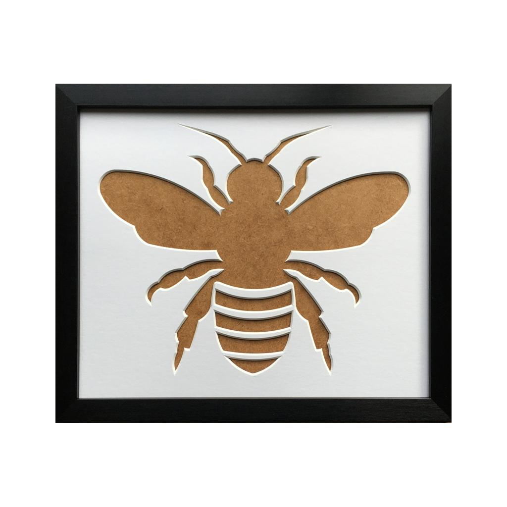 Bee Picture Silhouette Mount Frame 12 x 10 Black