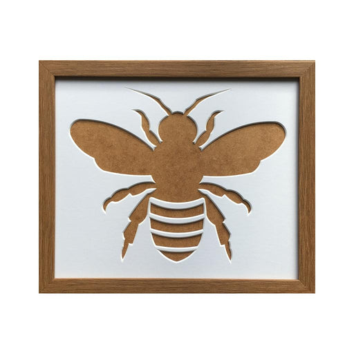 Bee Silhouette Picture Frame -  Dark Oak