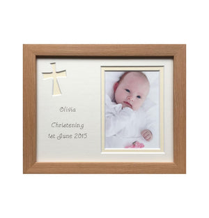 Christening Photo Frame Girl