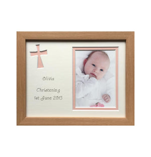Christening Photo Frame Beech
