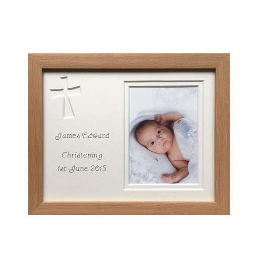 Christening Photo Frame - Beech
