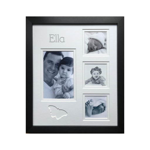 Handmade Name Butterfly Multi Collage Frame 12 x 10 Black