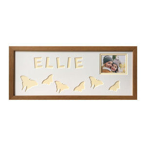 Butterfly Photo Oak Frame - Cream