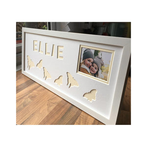 Butterfly Personalised Photo Frame - White