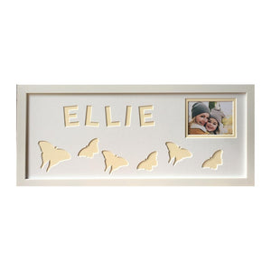 Butterfly Personalised Photo Frame - Cream