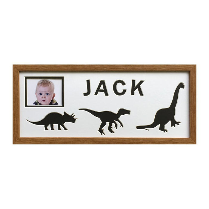 Dinosaur oak frame - Black background