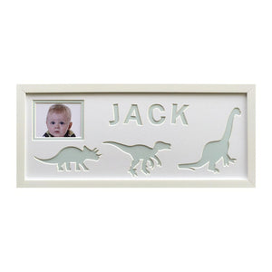 Dinosaur Personalised Photo Frame - Blue