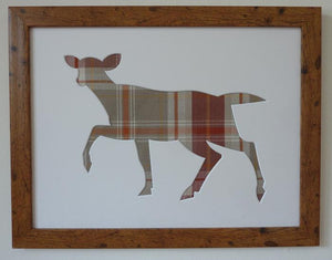 Doe picture frame - rustic