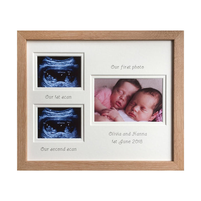 Double Scan Twins Photo Frame