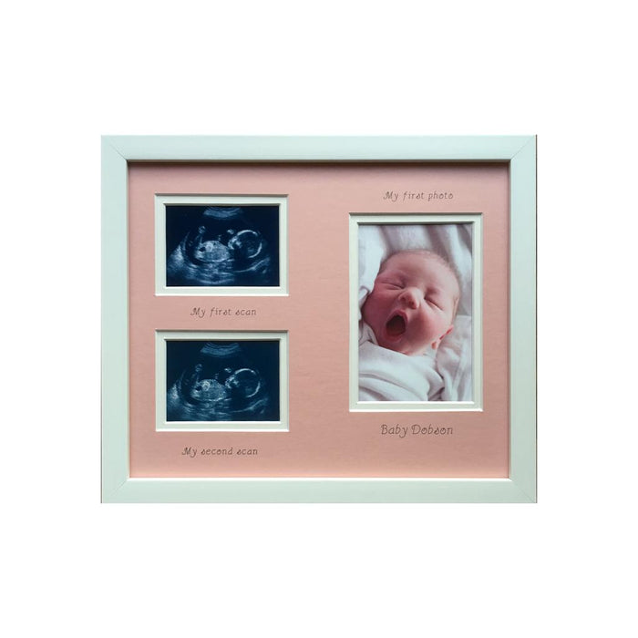 Baby Double Scan and First Photo Frame 12 x 10 Portrait