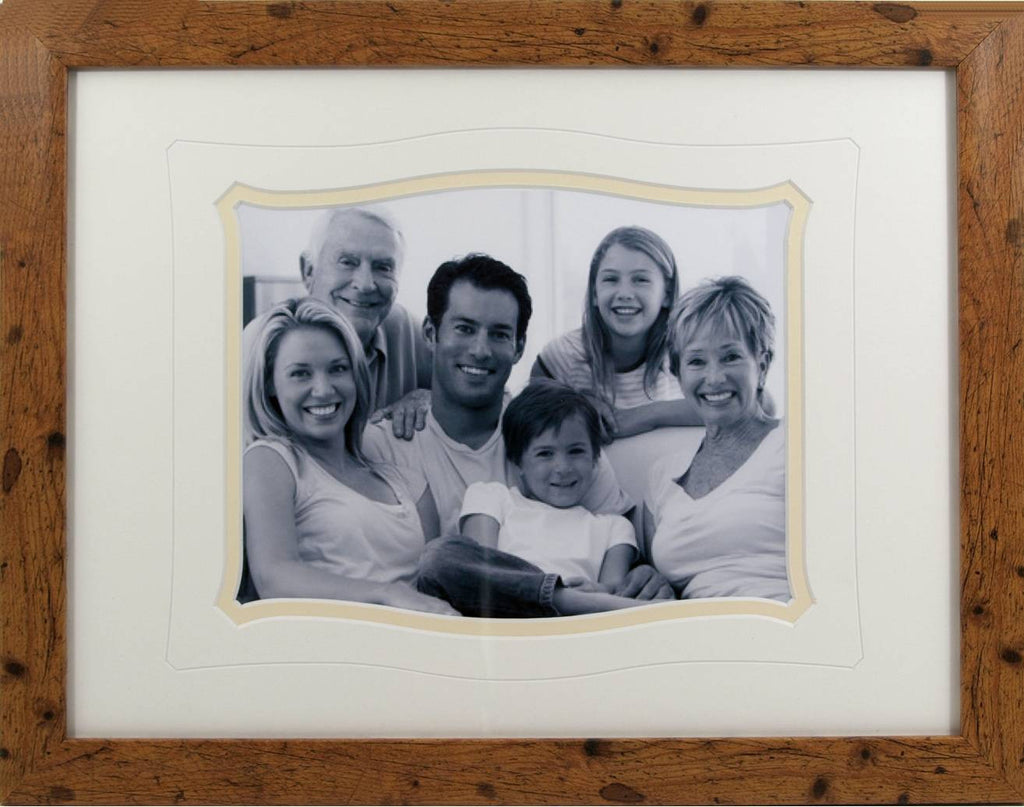 Family Picture Rustic Frame 16 x 12