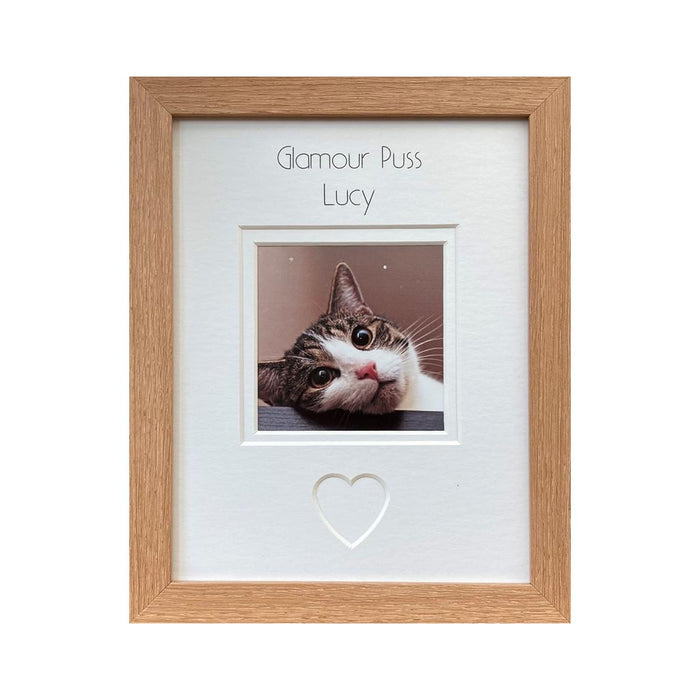Personalised Glamour Puss Photo Frame