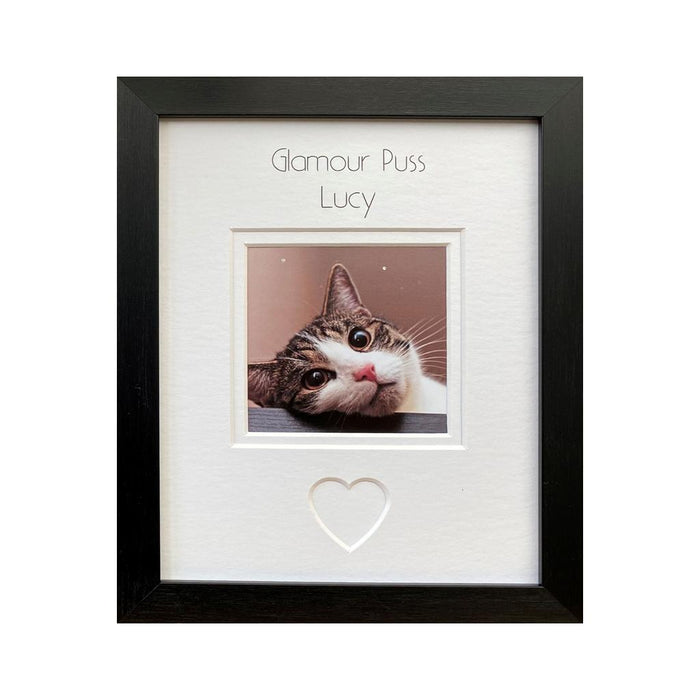 Personalised Glamour Puss Photo Frame 9 x 7 Black