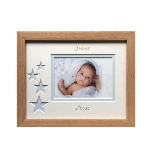 Godson Blue Stars Landscape Photo Frame Beech