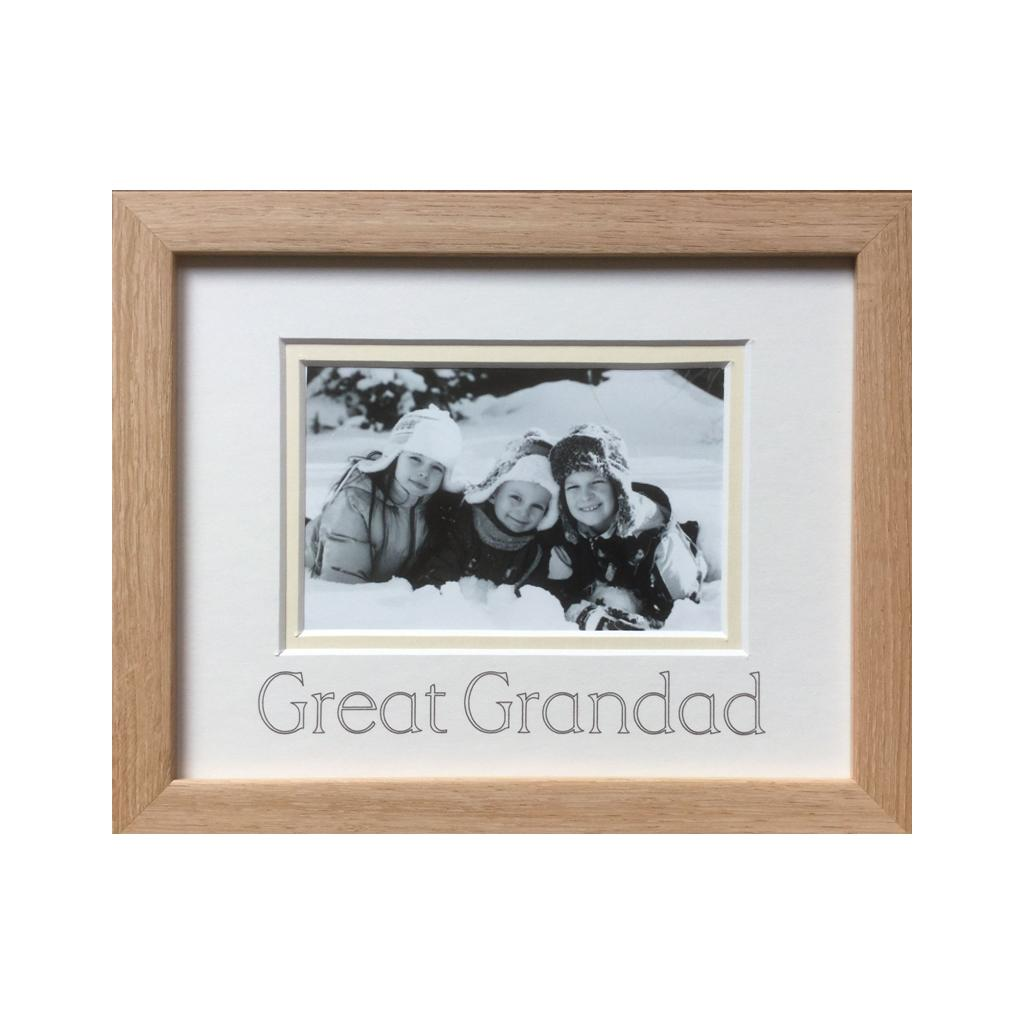 Great Grandad Photograph Frame - Beech 9 x 7
