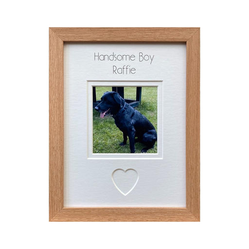 Handsome Boy Dog Picture Frame - Beech