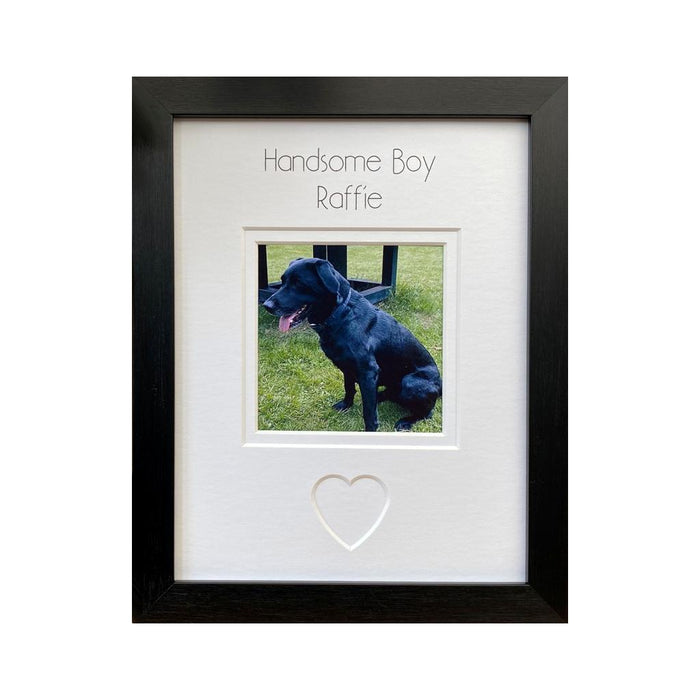 Handsome Boy Dog Photo Frame - Black