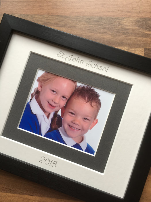 Primary School Photograph Picture Frame 9 x 7 Black