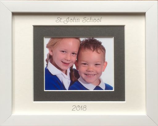 Primary School Photograph Picture Frame 9 x 7 White - Landscape