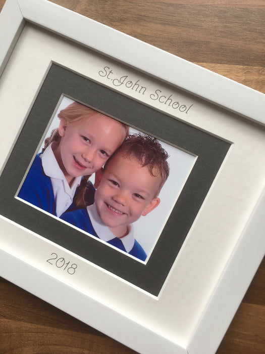 Primary School Photograph Picture Frame 9 x 7 White