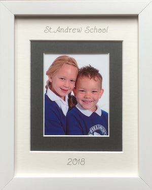 Primary School Photograph Picture Frame 9 x 7 White - Portrait