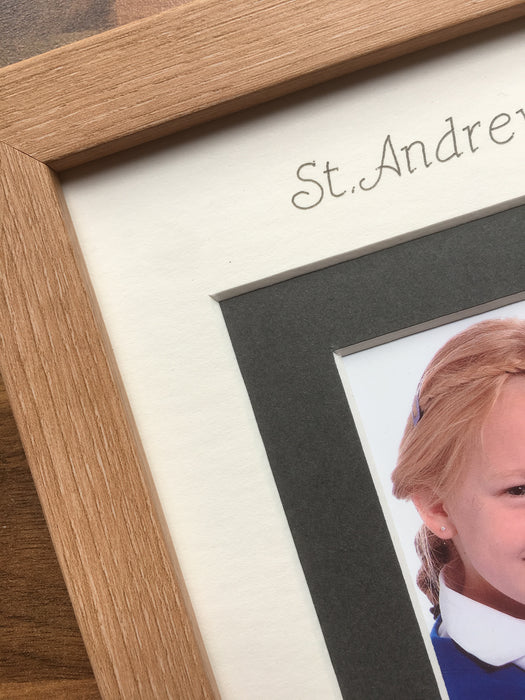 Personalised School Photo Frame 9 x 7 Beech Wood-Effect