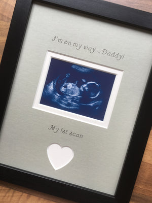 On My Way Daddy 1st Sonogram Picture Frame