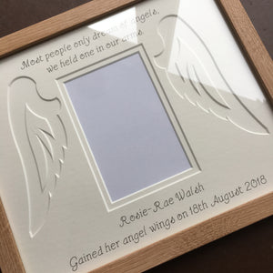 Own Quote Angel wings Photo Frame 12 x 10