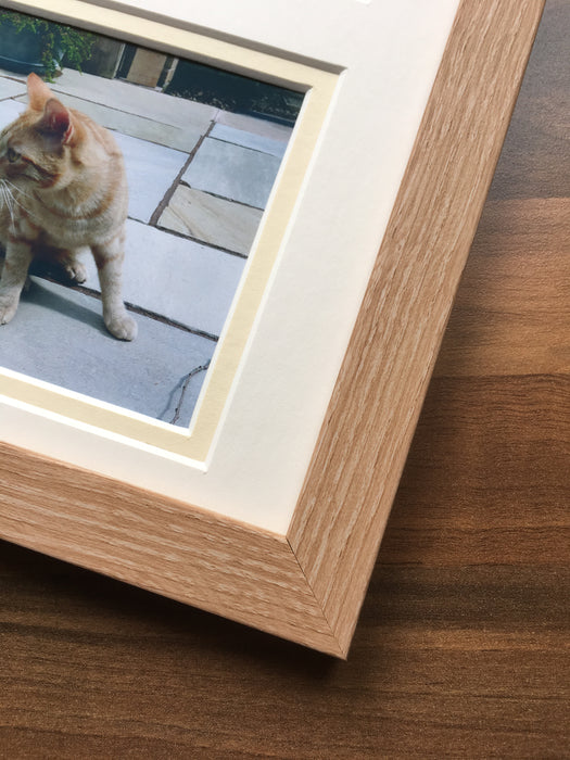 In Loving Memory Personalised Pet Photo Frame 12 x 10 Beech