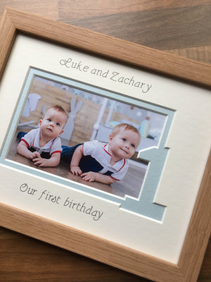 Personalised Twins Triplets Birthday Frame