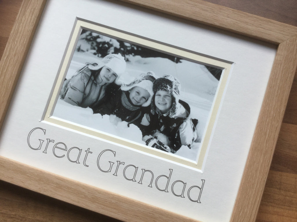 Great Grandad Photo Frame - Beech 9 x 7
