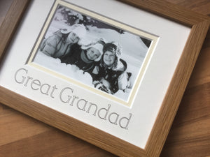 Great Grandad Photo Frame Oak